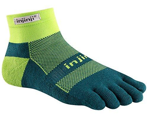 Injinji RUN Midweight Mini-Crew Running Toe Socks (Chive)