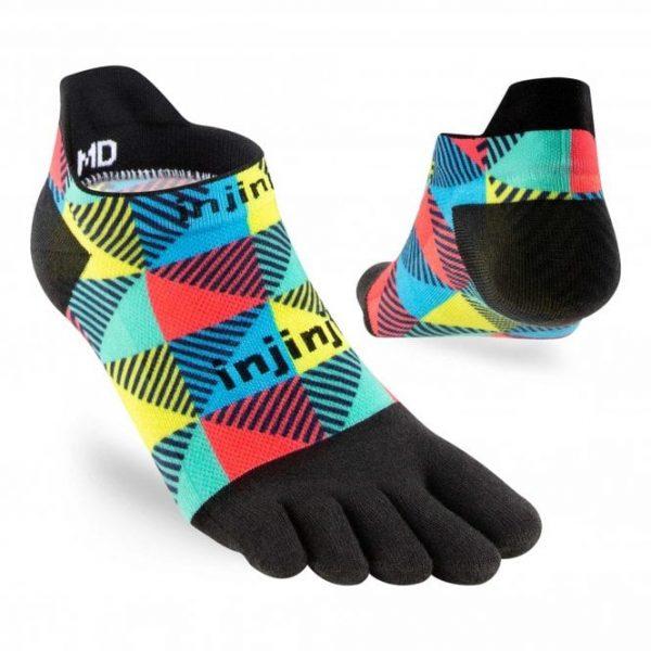 Injinji RUN Lightweight No-Show Running Toe Socks (Edge) - Angles