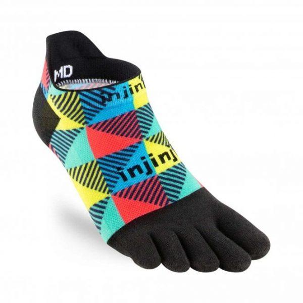 Injinji RUN Lightweight No-Show Running Toe Socks (Edge)