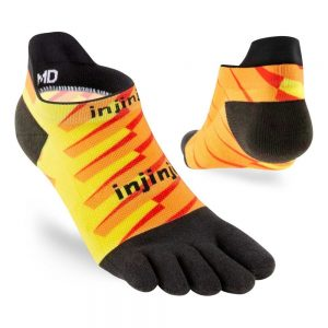 Injinji RUN Lightweight No-Show Running Toe Socks (Lightning) - Angles