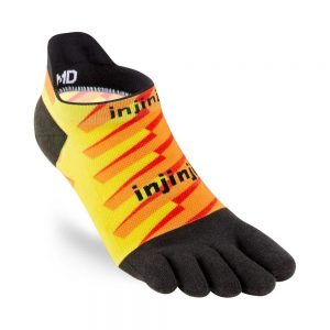 Injinji RUN Lightweight No-Show Running Toe Socks (Lightning)