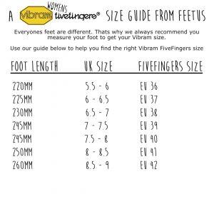 Vibram FiveFingers Womens Size Guide
