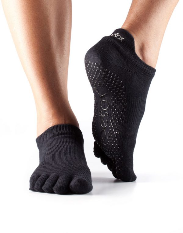 ToeSox Full Toe Low Rise - Black