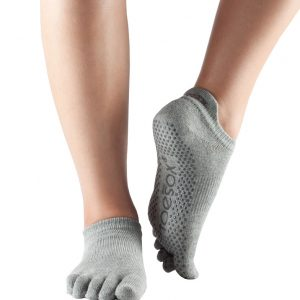 ToeSox Full Toe Low Rise - Heather Grey