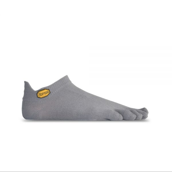 Vibram 5TOE Athletic No Show Toe Socks (Grey)