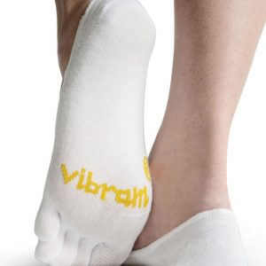 Vibram 5Toe Ghost Low Profile Toe Socks (White) - Rear