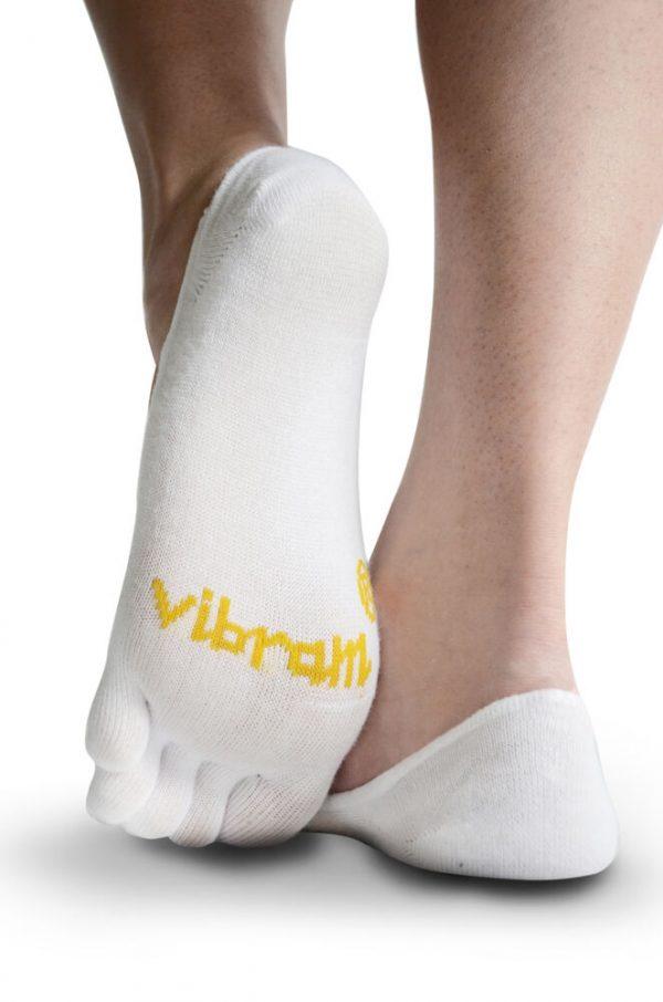 Vibram 5Toe Ghost Low Profile Toe Socks (White) - Rear