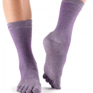 ToeSox Casual Full Toe Everyday Crew Toe Socks (Opal)