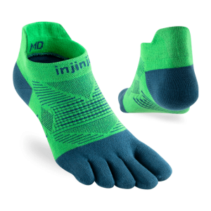 Injinji RUN Lightweight No-Show Running Toe Socks (Isla) - Dual