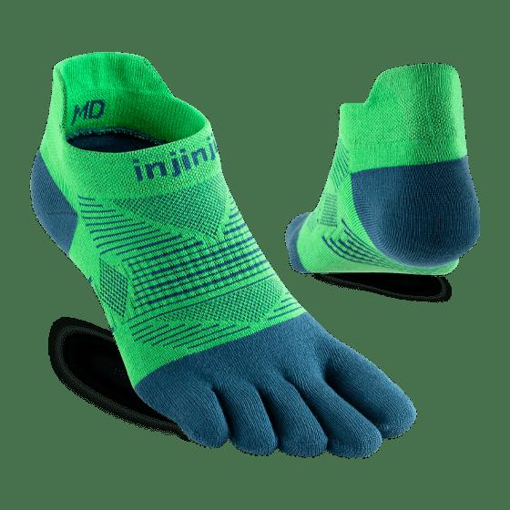 Injinji RUN Lightweight No-Show Running Toe Socks (Isla) - Dual
