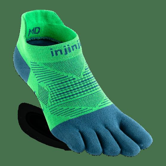 Injinji RUN Lightweight No-Show Running Toe Socks (Isla)