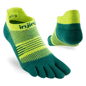 Injinji Womens RUN Lightweight No-Show Running Toe Socks (Nessie) - Dual