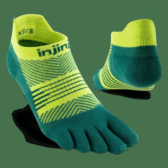 Injinji Womens RUN Lightweight No-Show Running Toe Socks (Nessie) - Dual