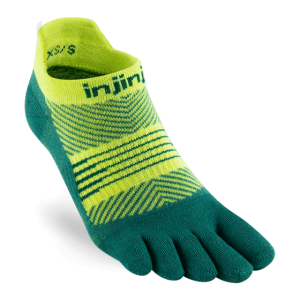 Injinji Womens RUN Lightweight No-Show Running Toe Socks (Nessie)