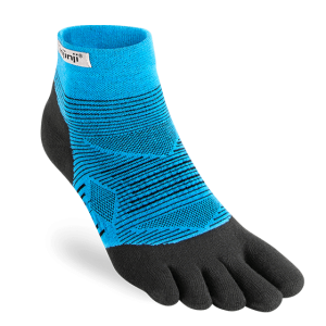 Injinji RUN Lightweight Mini-Crew Running Toe Socks (Malibu)