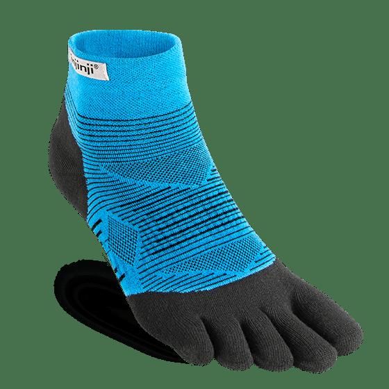Injinji RUN Lightweight Mini-Crew Running Toe Socks (Malibu)
