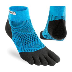 Injinji RUN Lightweight Mini-Crew Running Toe Socks (Malibu) - Dual