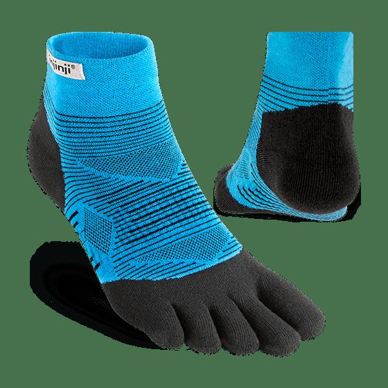 Injinji RUN Lightweight Mini-Crew Running Toe Socks (Malibu) - Dual