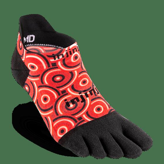 Injinji RUN Lightweight No-Show Running Toe Socks (Coil)