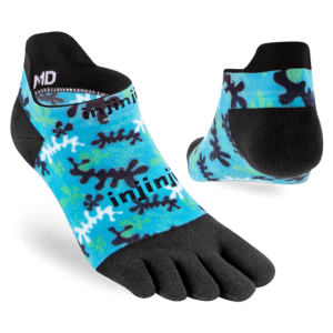 Injinji RUN Lightweight No-Show Running Toe Socks (Reef) - Dual