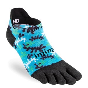 Injinji RUN Lightweight No-Show Running Toe Socks (Reef)