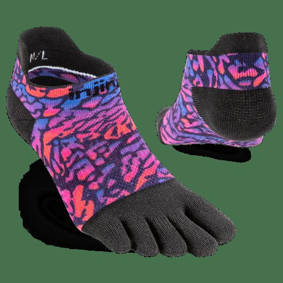 Injinji Womens RUN Lightweight No-Show Running Toe Socks (Lavender) - Dual