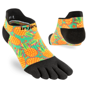Injinji Womens RUN Lightweight No-Show Running Toe Socks (Pina) - Dual