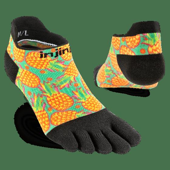 Injinji Womens RUN Lightweight No-Show Running Toe Socks (Pina) - Dual