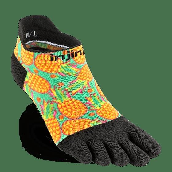 Injinji Womens RUN Lightweight No-Show Running Toe Socks (Pina)