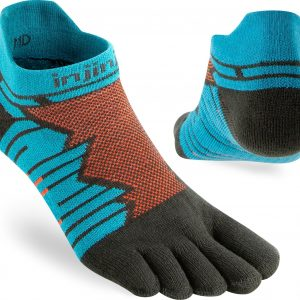 Injinji Ultra Run No-Show Running Toe Socks (Pop) - Dual