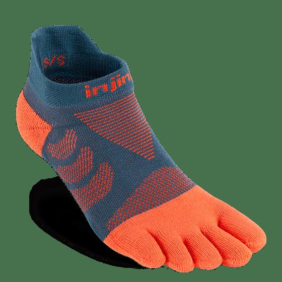 Injinji Womens Ultra Run No-Show Toe Running Socks (Dew)