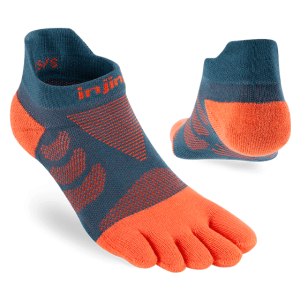 Injinji Womens Ultra Run No-Show Toe Running Socks (Dew) - Dual