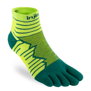 Injinji Ultra Run Mini-Crew Running Toe Socks (Deco)