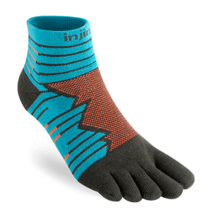 Injinji Ultra Run Mini-Crew Running Toe Socks (Pop)
