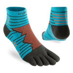 Injinji Ultra Run Mini-Crew Running Toe Socks (Pop) - Dual