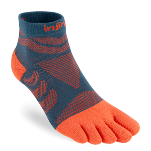 Injinji Womens Ultra Run Mini Crew Toe Running Socks (Dew)