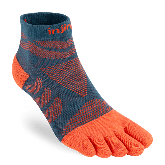 Injinji Womens Ultra Run Mini Crew Toe Running Socks (Dew)
