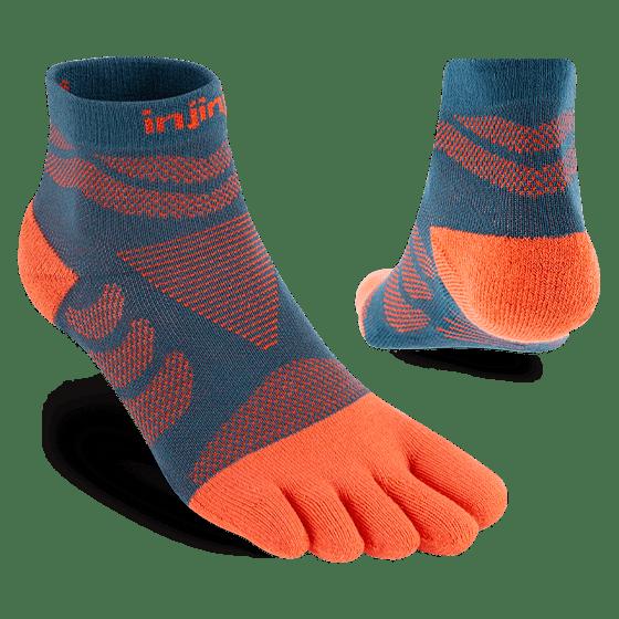Injinji Womens Ultra Run Mini Crew Toe Running Socks (Dew)- Dual