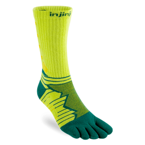 Injinji Ultra Run Crew Running Toe Socks (Deco)