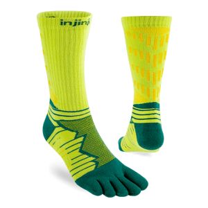 Injinji Ultra Run Crew Running Toe Socks (Deco) - Dual