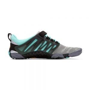 Vibram FiveFingers Womens V-TRAIN Minimalist Training Shoe (Grey/Black/Aqua) - Side