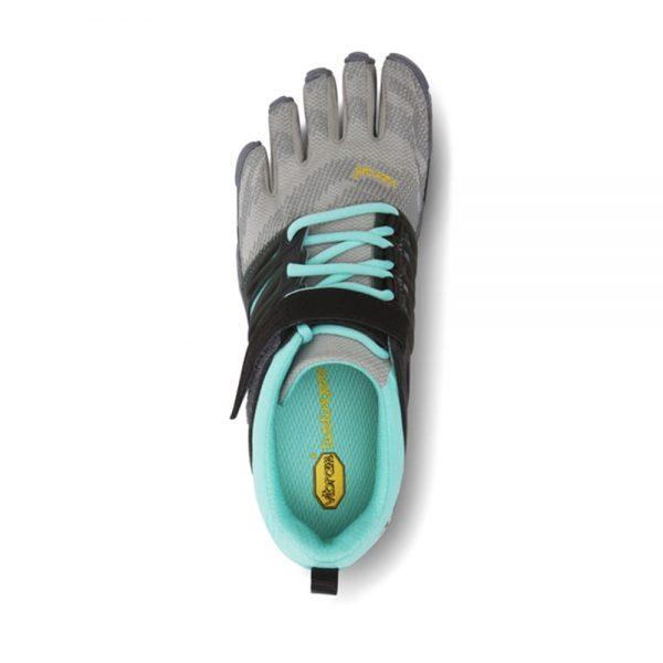 Vibram FiveFingers Womens V-TRAIN Minimalist Training Shoe (Grey/Black/Aqua) - Top