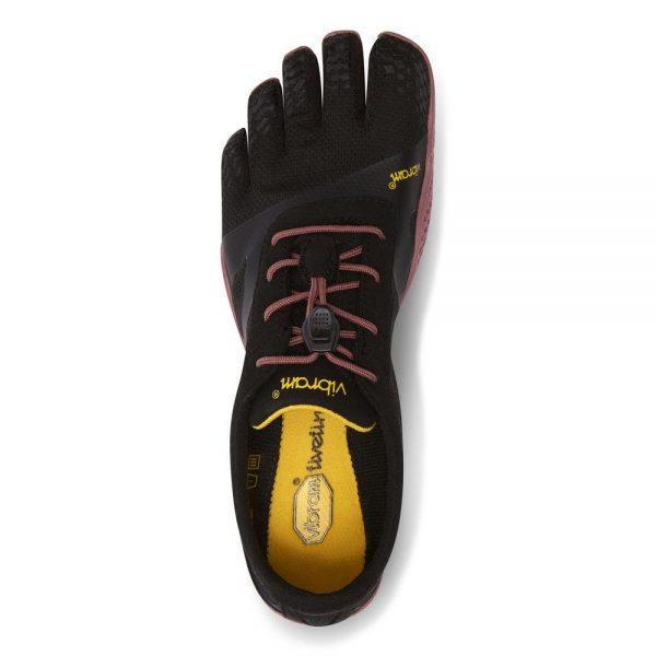 Vibram FiveFingers Womens KSO EVO Minimalist Running Shoes (Black/Rose) - Top