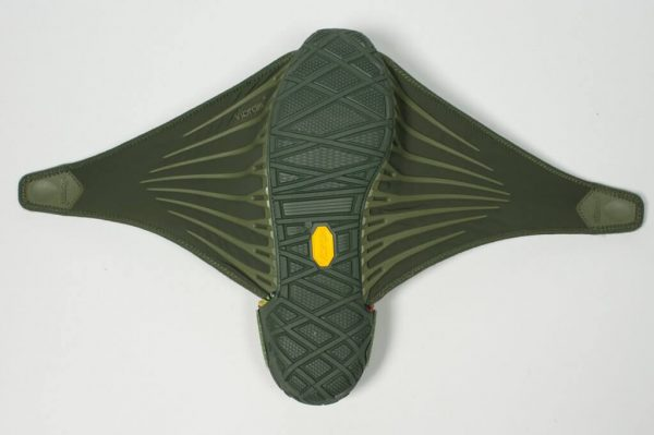 Vibram Womens Furoshiki Wrapping Sole Shoes (Olive) - Open Sole