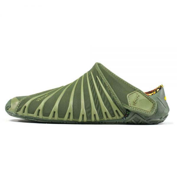 Vibram Womens Furoshiki Wrapping Sole Shoes (Olive) - Side