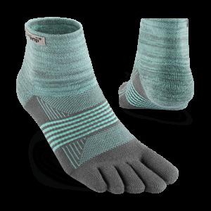 Injinji Womens Trail Midweight Mini-Crew Running Toe Socks Mint