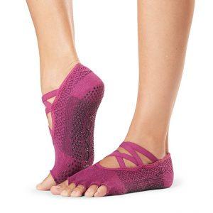 ToeSox Half Toe Elle - Grip Toe Socks - Groovy