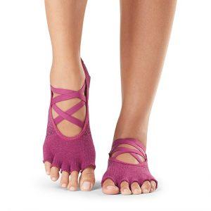 ToeSox Half Toe Elle - Grip Toe Socks - Groovy - Front