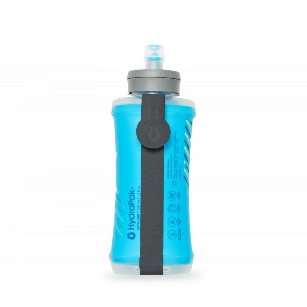 HydraPak SkyFlask 500 ML Minimalist Running Water Bottle - Malibu Blue - Rear