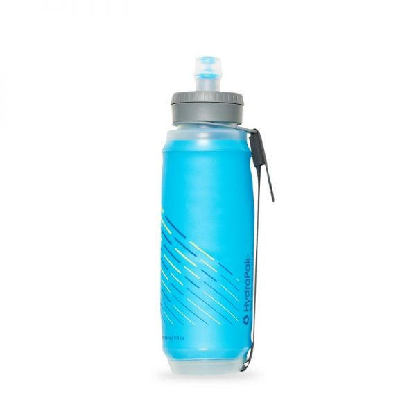 HydraPak SkyFlask 500 ML Minimalist Running Water Bottle - Malibu Blue - Side